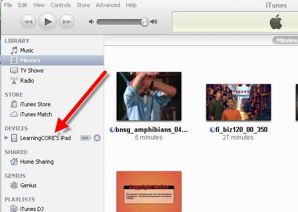 how to watch downloaded movies on ipad from itunes